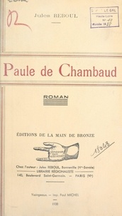 Jules Reboul - Paule de Chambaud.