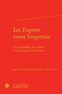 Julia Castiglione et Dora D'Errico - Les experts avant l'expertise - Une généalogie du conseil et du recours à l'expérience.