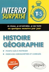 Julian Gomez Pardo et Frantz Thille - Histoire géographie Tle S - Points clés à maîtriser, 81 exercices chronométrés et corrigés.