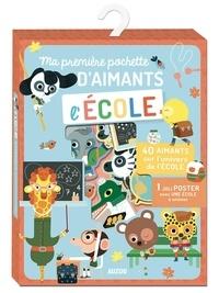 Julie Mercier - Ma pochette d'aimants L'école - Avec 47 aimants, 1 joli poster.