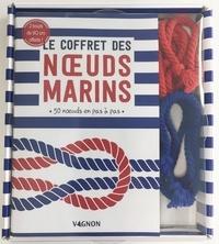 Julie Quillien - Le coffret des noeuds marins - 50 noeuds en pas à pas. Avec 2 bouts de 90 cm offerts !.