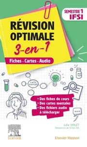 Julie Violet - Révision optimale 3 en 1 - Fiches - Cartes - Audio Semestre 1 IFSI.