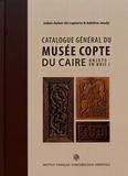 Julien Auber de Lapierre et Adeline Jeudy - Catalogue général du Musée copte du Caire - Volume 1, Objets en bois.