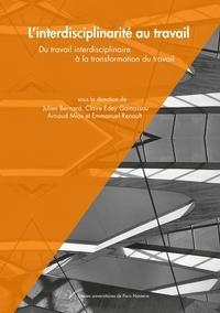 Julien Bernard et Claire Edey Gamassou - L'interdisciplinarité au travail - Du travail interdisciplinaire à la transformation du travail.