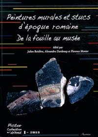 Julien Boislève et Alexandra Dardenay - Peintures murales et stucs d'époque romaine : de la fouille au musée - Actes des 24e et 25e colloques de l'AFPMA, Narbonne 2010 et Paris 2011.