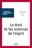Julien Cantegreil - Le droit et les sciences de l'esprit.
