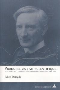 Produire un fait scientifique - Beveridge et le Comité international dhistoire des prix.pdf