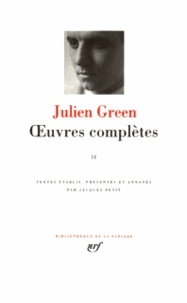 Julien Green - OEUVRES COMPLETES. - Tome 2.