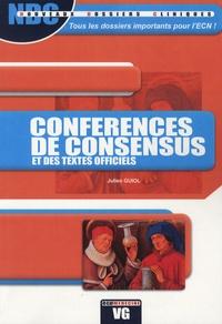 Julien Guiol - Conférences de consensus et des textes officiels.