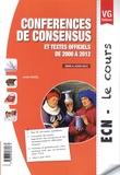 Julien Guiol - Conférences de consensus et textes officiels de 2000 à 2012.
