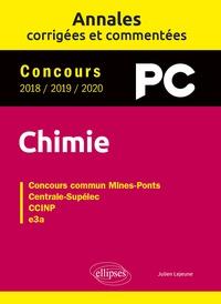 Julien Lejeune - Concours Chimie PC 2018 / 2019 / 2020 - Concours commun Mines-Pont, Centrale-Sipélec, CCINP, e3a.