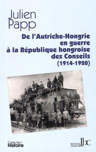 De l'Autriche-Hongrie en guerre à la République hongroise des Conseils (1914-1920) - Julien Papp | Showmesound.org