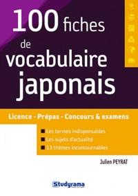 100 fiches de vocabulaire japonais - Julien Peyrat |