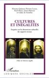 Julien Rebotier - Cultures et inégalités - Enquêtes sur les dimensions culturelles des rapports sociaux.