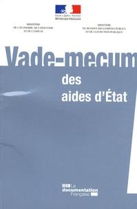 Julien Sorin et Yann Froger - Vade-mecum des aides d'Etat.