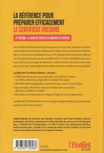La bible du certificat Voltaire 3e édition