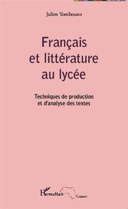 Corridashivernales.be Français et littérature au lycée - Techniques de production et d'analyse des textes Image
