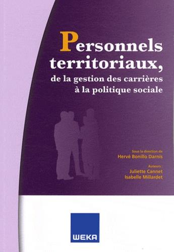 Juliette Cannet et Isabelle Millardet - Personnels territoriaux, de la gestion des carrières à la politique sociale.