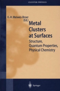 K-H Meiwes-Broer et  Collectif - Metal Clusters at Surfaces. - Structure, Quantum Properties, Physical Chemistry.