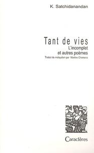 Tant de vies. - Lincomplet et autres poèmes.pdf