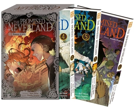 Kaiu Shirai et Posuka Demizu - The Promised Neverland Tome 4 à 6 : Pack en 3 volumes : Tome 4 ; Tome 5, L'évasion ; Tome 6, B06-32 - Avec 3 cartes exclusives.