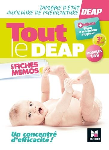 Kamel Abbadi et Priscilla Benchimol - Tout le DEAP en fiches mémos - Diplôme d'État Auxiliaire de puériculture  - 3e ed.- Révision.
