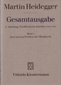Kant und das Problem der Metaphysik.