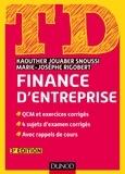 Kaouther Jouaber Snoussi et Marie-Josèphe Rigobert - Finance d'entreprise - QCM et exercices corrigés ; 4 sujets d'examen corrigés ; Avec rappels de cours.