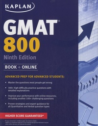 Kaplan - GMAT 800 - Advanced Prep for Advanced Students.