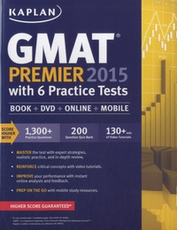 Kaplan - Kaplan GMAT Premier 2015 with 6 Practice Tests. 1 DVD