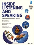 Karen Hamilton et Laurence Lawson - Inside Listening and Speaking - The Academic Word List in Context - Book 3.