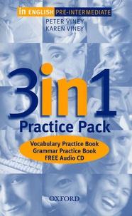 Karen Viney et Peter Viney - In English Pre-Intermediate 3 in 1 - Practice Pack. 1 CD audio