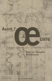 Karim Basbous - Avant l'oeuvre - Essai sur l'invention architecturale.
