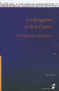 Les dérogations au droit dauteur - Lexception de copie privée.pdf