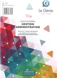 Karine Allart-Bouriche - Epreuve E2 : Gestion administrative des relations avec le personnel - Sujets d'examen.