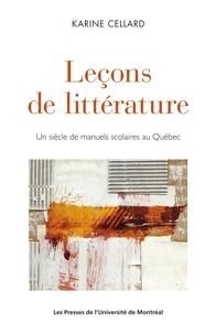 Karine Cellard - Leçons de littérature.