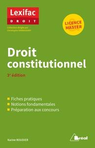 Droit constitutionnel - Karine Roudier |