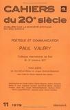 Karl-Alfred Blüher et Jürgen Schmidt-Radefeld - Paul Valéry - Poétique et communication.
