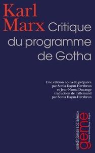 Karl Marx et Sonia Dayan-Herzbrun - Critique du programme de Gotha.