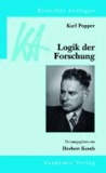 Karl Popper: Logik der Forschung.