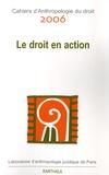 Christian Le Roy et  Collectif - Cahiers d'Anthropologie du droit 2006 : Le droit en action.