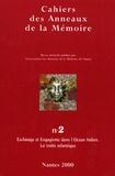 Jean-Marc Masseaut et  Collectif - Cahiers des Anneaux de la Mémoire N° 2/2000 : Esclavage et Engagisme dans l'Océan Indien ; La traite atlantique.