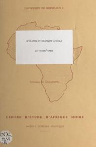 Kasoro Tumbwe et Daniel Bach - Révolution et créativité lexicale.