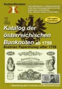 Katalog der österreichischen Banknoten ab 1759 - Austrian Papermoney after 1759.