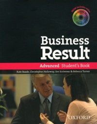 Kate Baade et Christopher Holloway - Business Result - Advanced Student's Book. 1 DVD