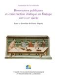 Katia Béguin - Ressources publiques et construction étatique en Europe XIIIe-XVIIIe siècle - Colloque des 2 et 3 juillet 2012.