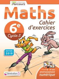 Katia Hache - Maths 6e Cycle 3 Iparcours - Cahier d'exercices.