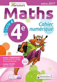 Maths cycle 4, 4e Cahier numerique iparcours - Katia Hache |