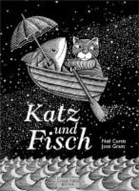 Katz und Fisch.
