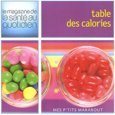 Kay Halsey et Carolyne Lette - Table des calories.